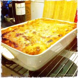 vegan lasagne cooked