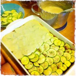 vegan lasagne layering