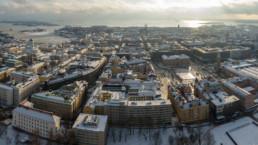 Helsinki downtown panorama
