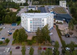 Different angle - interesting residential building at Kivisaarentie in Vuosaari.