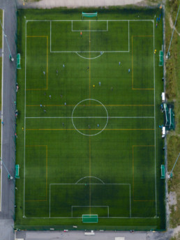 Football field Kartanon kenttä, Vuosaari. Angle adjusted.