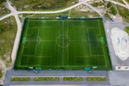 Football field Kartanon kenttä, Vuosaari. Different angle.