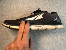 Running shoe. Altra The One 2.5, grey colour.