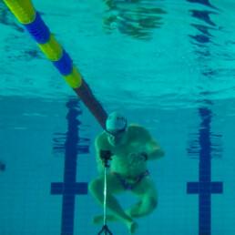 Me setting up my Gopro for swim analysis.