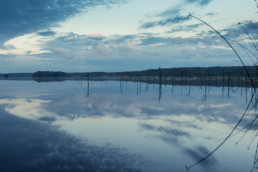 Mouhijärvi lake in the evening