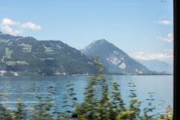 Travelling day, on the train between Spiez and Interlaken West