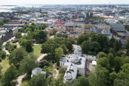 The observatory and more of lower downtown Helsinki