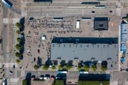 Hakaniemi market, straight down, Helsinki