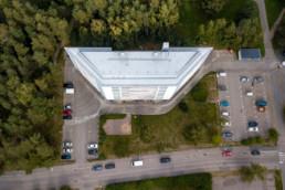Interesting residential building at Kivisaarentie in Vuosaari.