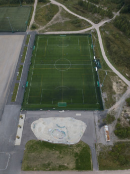 Football field Kartanon kenttä, Vuosaari. Original take.