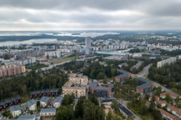 View over central Vuosaari.