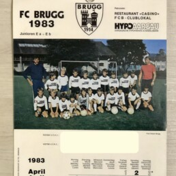 My first squad, FC Brugg.