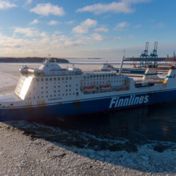 The MS Finnmaid in the Port of Helsinki on Feb 2nd 2021.