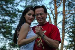 Johanna Lahtinen and Frans Kärki, Finnish tango dance competitors.