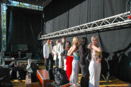 Tango singing contestants backstage, Seinäjoki, Finland.
