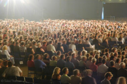 The crowd during the semi finals of the singing contest at the Tangomarkkinat, Seinäjoki, Finland.