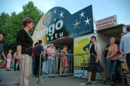 The entrance to the tango street.